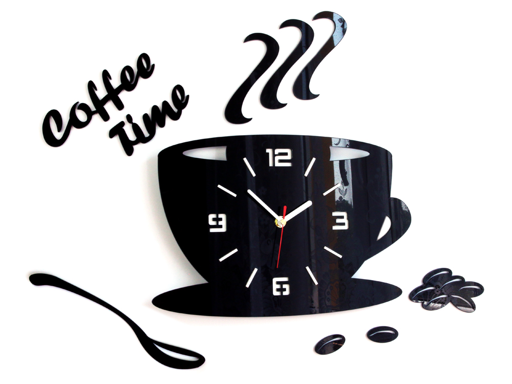 Ρολοι τοιχου COFFE TIME 3D BLACK NH045-black