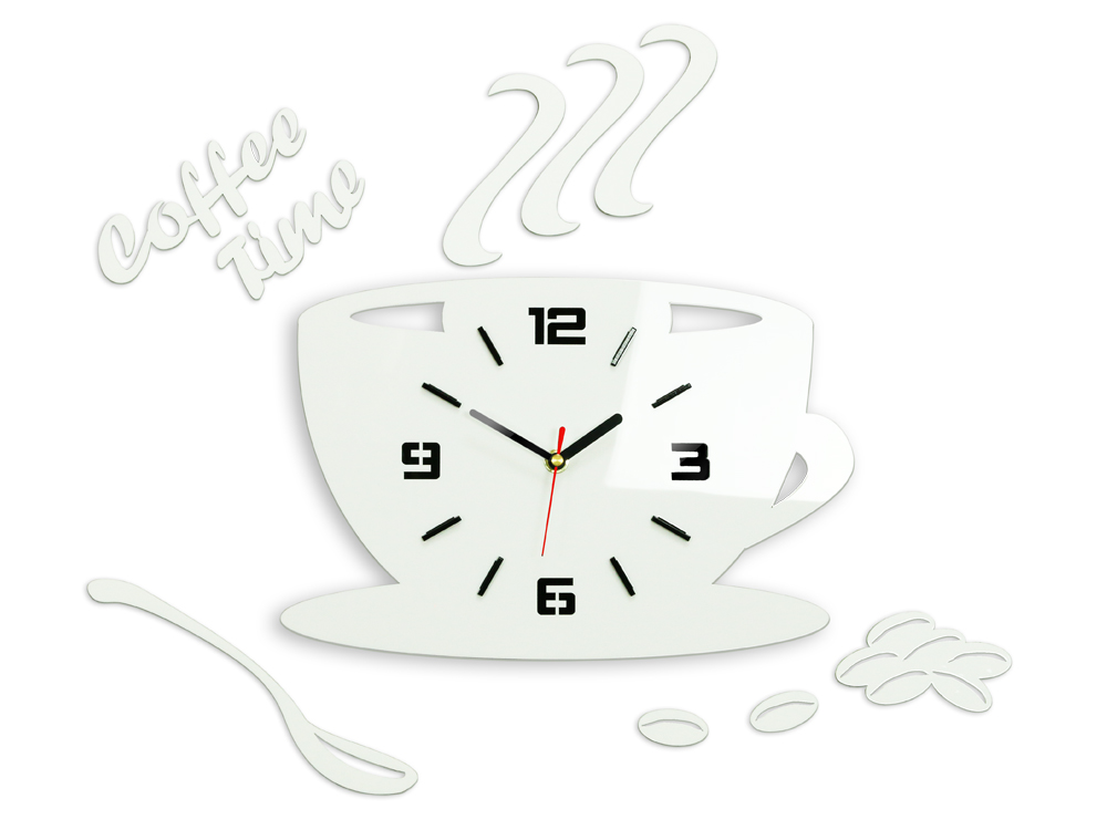 Ρολοι τοιχου COFFE TIME 3D WHITE NH045-white