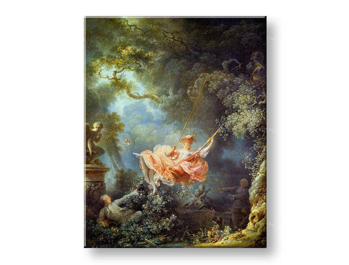 Πινακες σε καμβα THE SWING - Jean-Honoré Fragonard