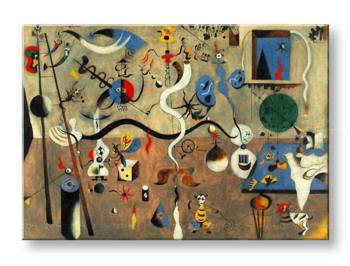 Πινακες σε καμβα CARNIVAL OF HARLEQUIN - Joan Miro