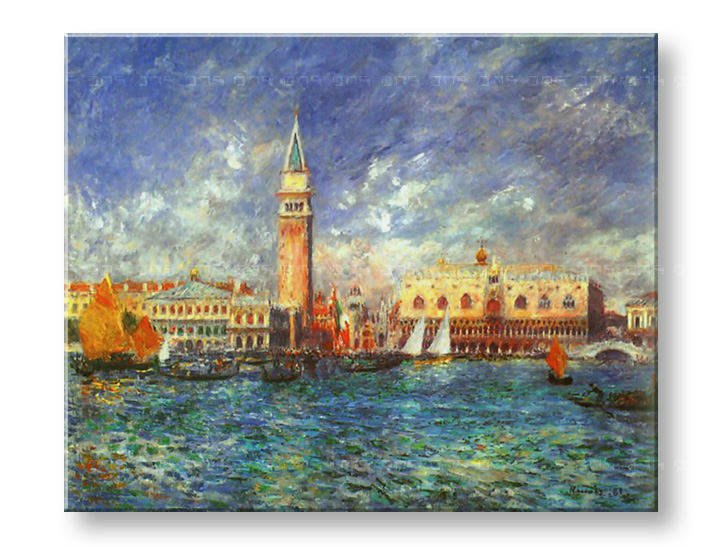 Πινακες σε καμβα THE DOGE'S PALACE - Pierre Auguste Renoir