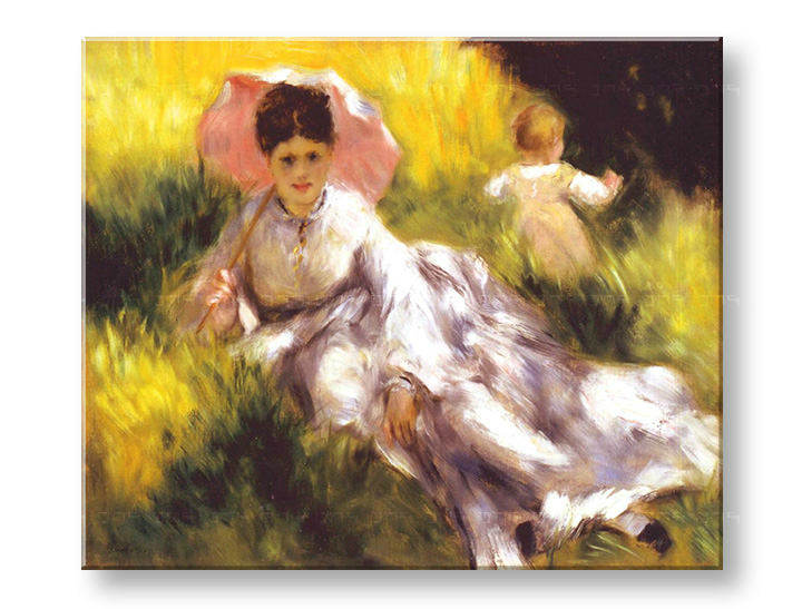 Πινακες σε καμβα WOMAN WITH A PARASOL - Pierre Auguste Renoir